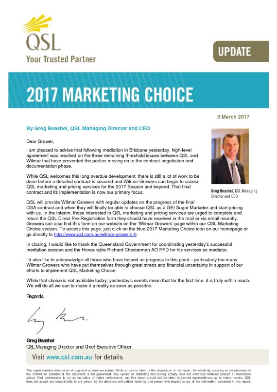 thumbnail of Marketing Choice Update – 3 March 2017