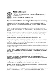 thumbnail of QLD Govt – Media Release – Sorghum