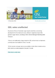 thumbnail of QSL Weekly Update – 13 November 2020