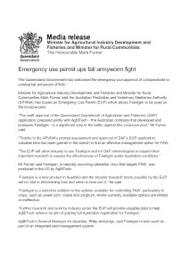 thumbnail of qld GOVT MEDIA RELEASE – FALL ARMYWORM