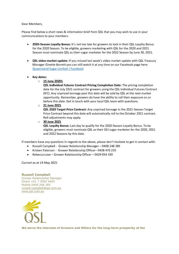 thumbnail of QSL Information Brief – 17th May 2021