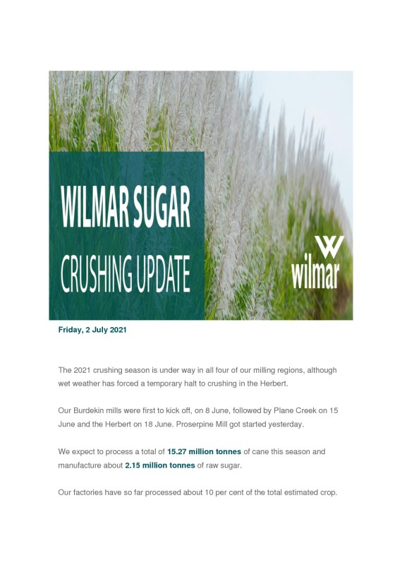 thumbnail of Wilmar Crushing Update – 2nd July 2021