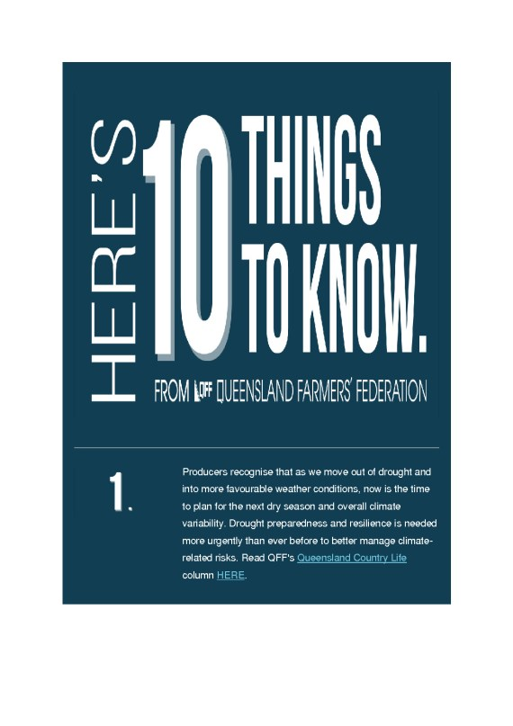thumbnail of QFF 10 thing to know – 30th August 2021