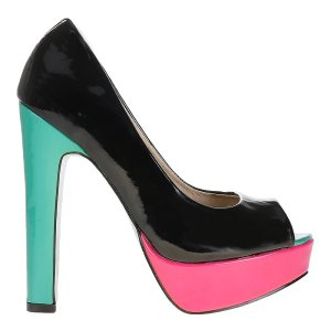reducere Pantofi dama negri piele eco, cel mai mic pret