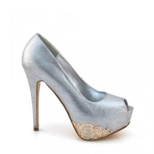 reducere Pantofi dama Ivona argintii, cel mai mic pret