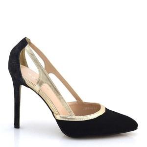 reducere Pantofi dama negri Yollanda cu toc inalt, cel mai mic pret