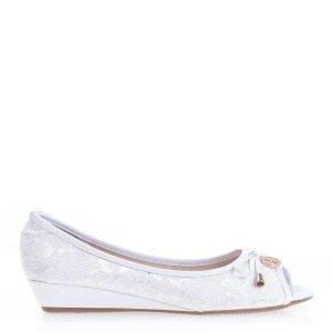 reducere Pantofi dama Oprah albi, cel mai mic pret