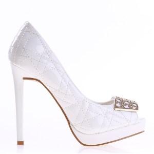reducere Pantofi dama Dawn albi, cel mai mic pret