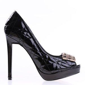 reducere Pantofi dama Dawn negri, cel mai mic pret