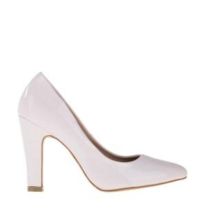 reducere Pantofi dama Tina albi, cel mai mic pret