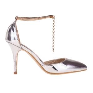 reducere Pantofi dama Lizette argintii, cel mai mic pret