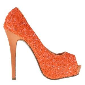 reducere Pantofi dama Katia portocalii, cel mai mic pret