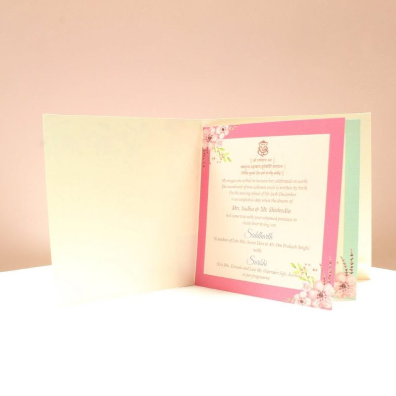 KL2004S1L WEDDING INVITATION CARD 2