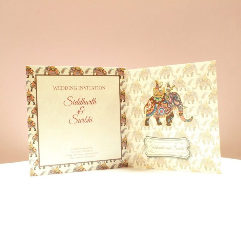 KL2063S1L WEDDING INVITATION CARD 3