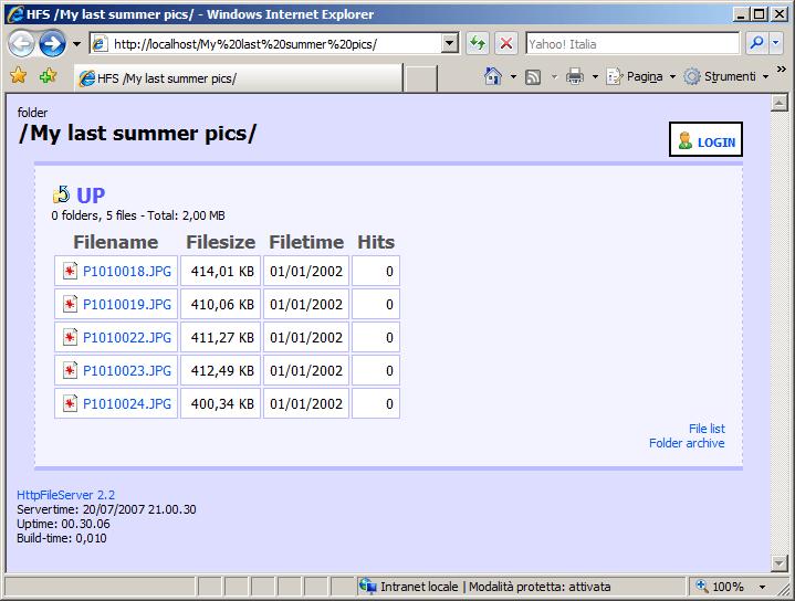 HFS (HTTP File Server) е програма, превръщаща компютъра ви във