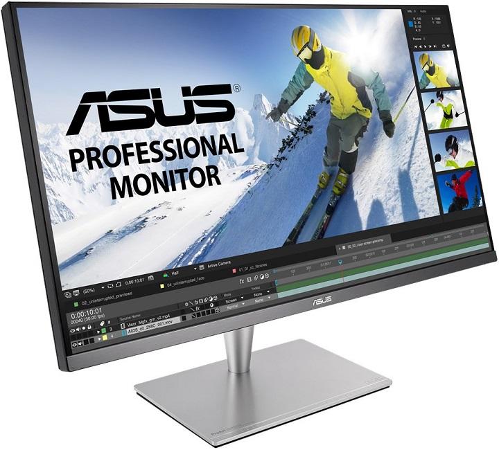 Гамата от професионални монитори на компанията ASUSTeK Computer днес официално