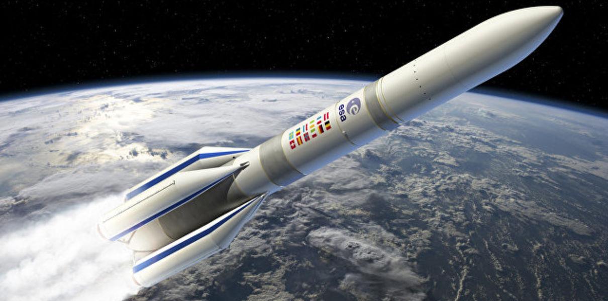 Новата ракета носител Ariane 6, разработвана за Европейската космическа агенция