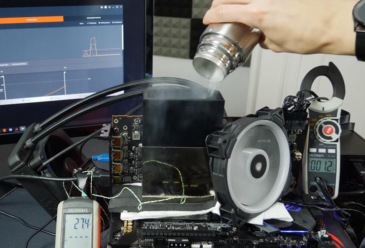 Снимка: Екстремален овърклок на AMD Radeon VII: 2149 MHz на ядро