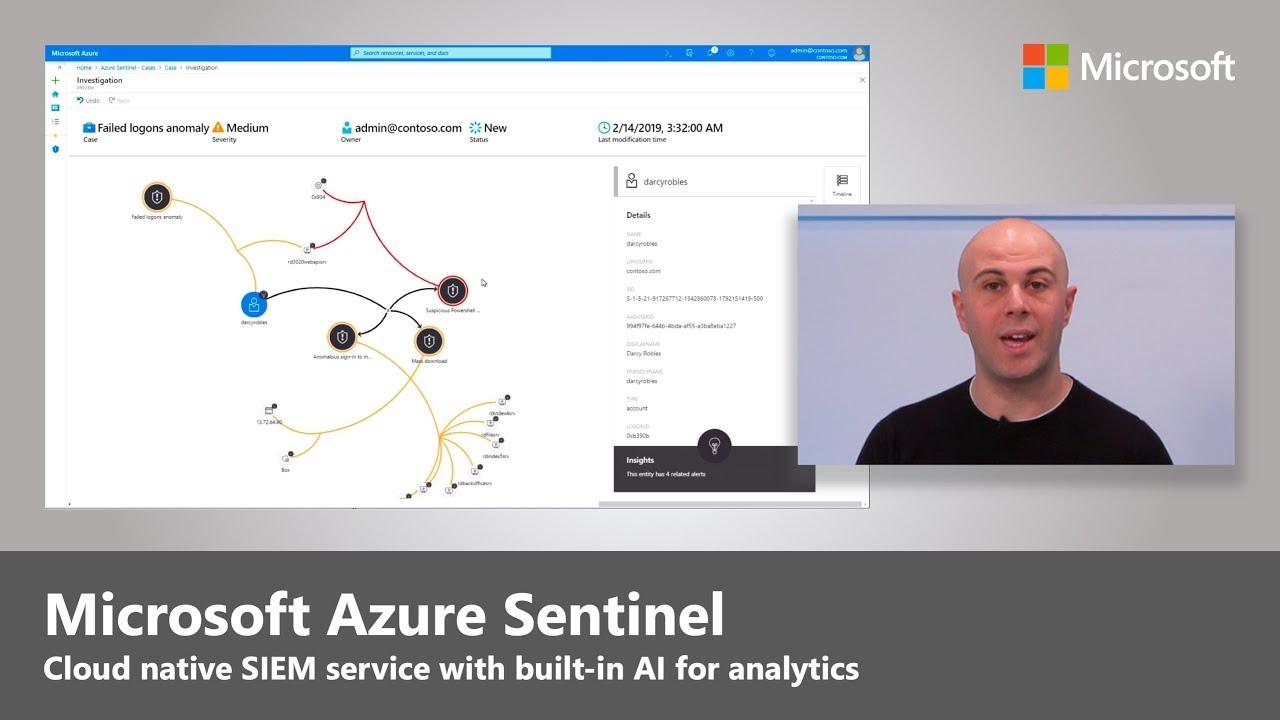 Microsoft разкриха тази седмица Azure Sentinel, облачно базирана услуга за