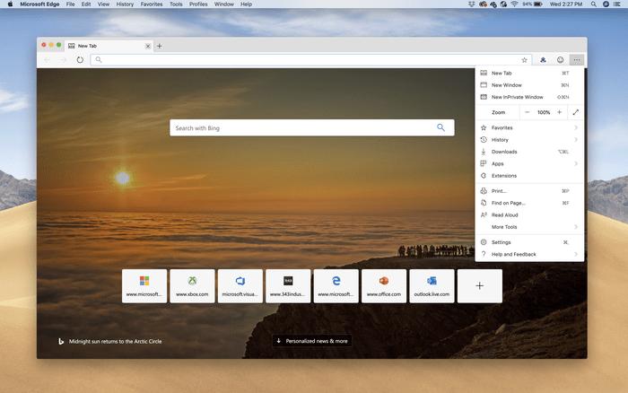 По време на Build, Microsoft показа тийзър на Edge за