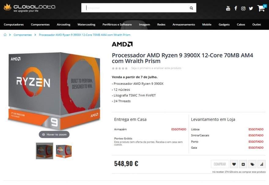 Продажбите на новите процесори AMD Ryzen 3000 са обявени за