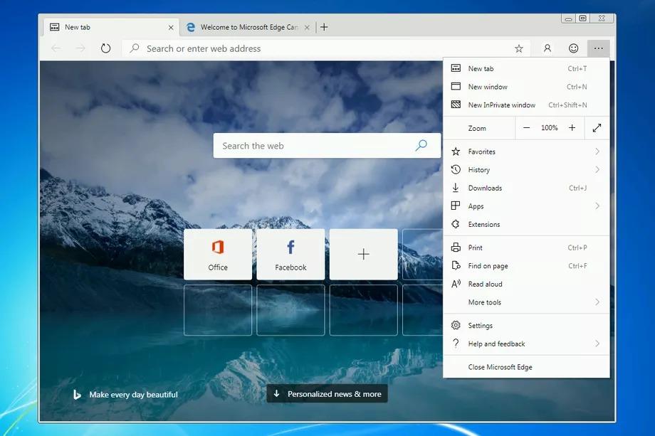 Новият Chromium Edge браузър ще бъде достъпен и на Windows 7 и 8