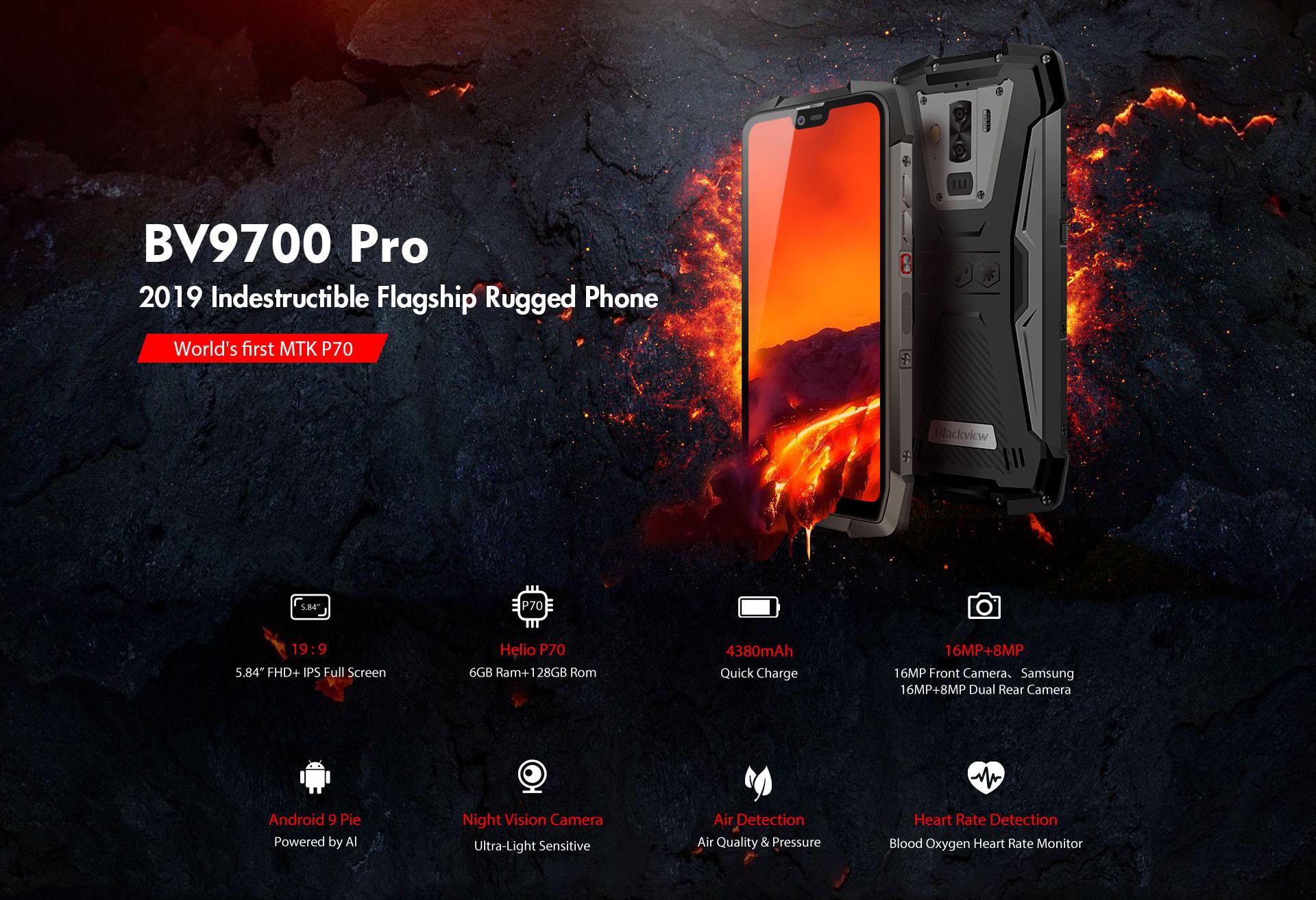 Първият в света смартфон Blackview BV9700 Pro, базиран на SoC
