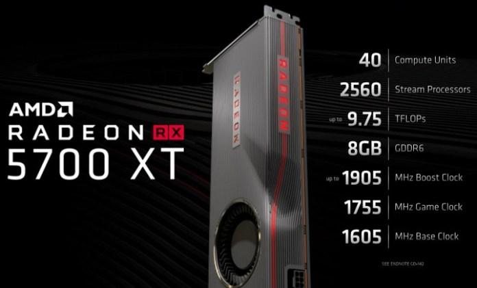 AMD Radeon RX 5700  Radeon RX 5700 XT