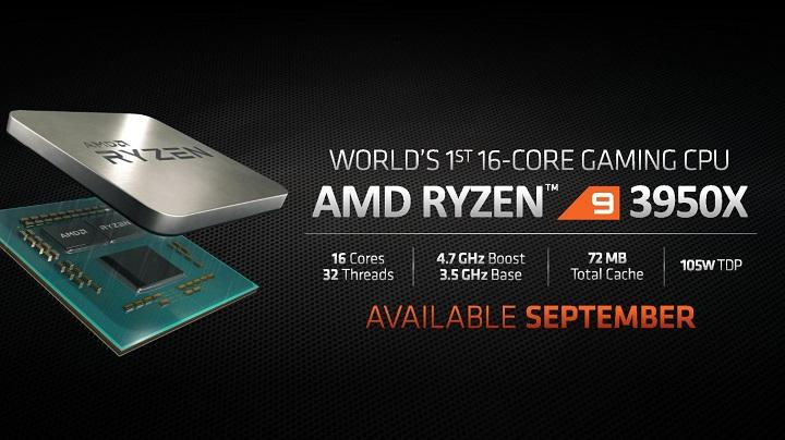 Процесорът AMD Ryzen 9 3950X изглежда ще бъде един от