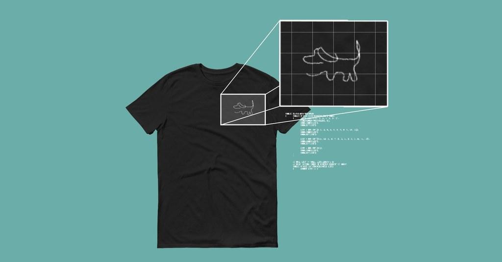 Снимка: Новото начинание на ИИ - да проектира тениски