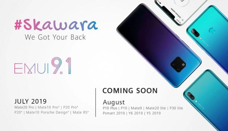 Снимка: Смартфоните на Huawei, които ще се обновят до EMUI 9.1 през юли и август