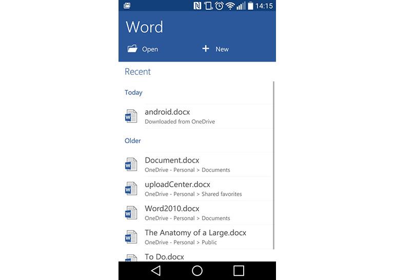 Снимка: 1 милиард инсталации на Microsoft Word за Android