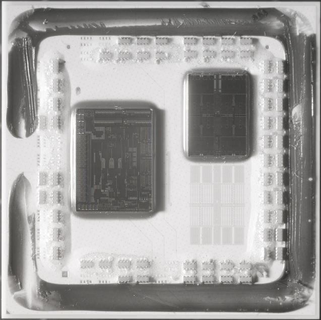 Единият чиплет на процесорите Ryzen 3000, произвеждан чрез 7 нанометров