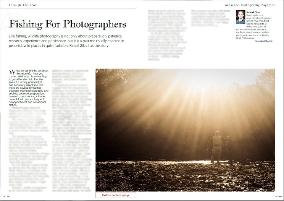 October 2013 edition of Landscape & Wildlife Magazine p 160-161