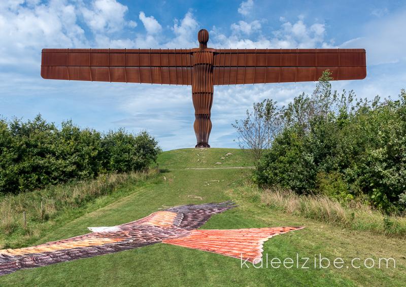 _ND47156 Red kite mosaic-Angel of the North-KaleelZibe.com