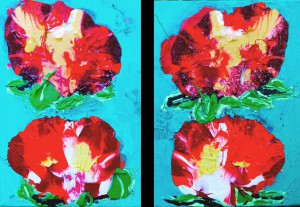 Island Fantasy 1 and 2. acrylic on canvas. 5x8in. $8… or $50 each