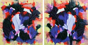 Island Fantasy 3 and 4. acrylic on canvas. 10x10. $1…r $100 each