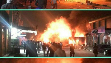 Photo of معترضان کنسولگری ایران در نجف را به آتش کشیدند