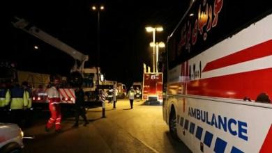تصویر اتوبوس مسافربری تهران-شیراز واژگون شد: دست کم ۹ کشته و ۱۸ مصدوم