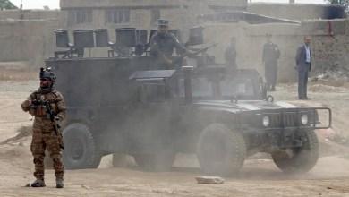 تصویر جان باختن ۶ نیروی امنیتی با حملۀ طالبان در زابل
