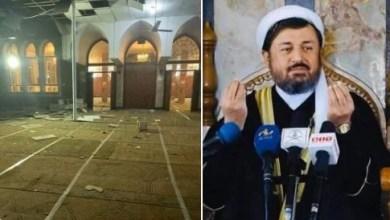 تصویر جان باختن امام مسجد وزیر محمد اکبرخان در انفجاری در کابل