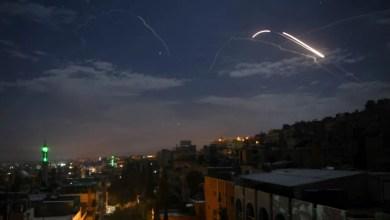 تصویر حمله به انبار بزرگ مهمات رژیم ایران در دمشق