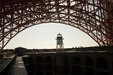 Fort Point at the foot of the Golden Gate Bridge