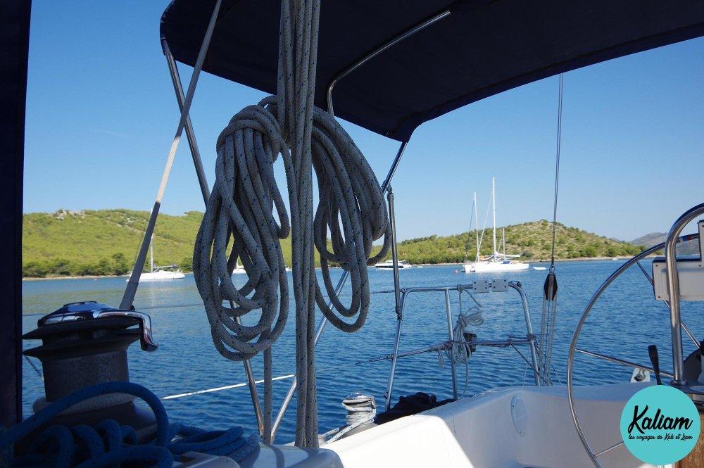 Sur sur les autres bateaux en croatie