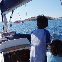 Croisement d'un bateau