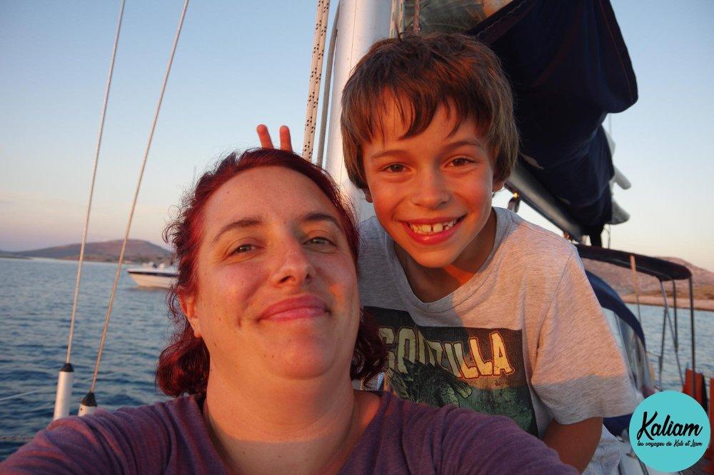 Liam et maman