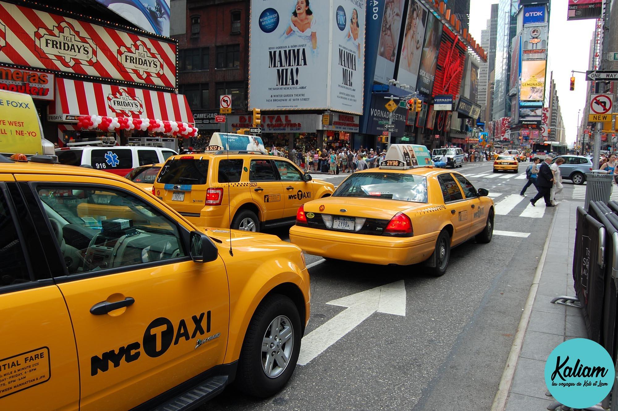Les taxis jaunes de New York