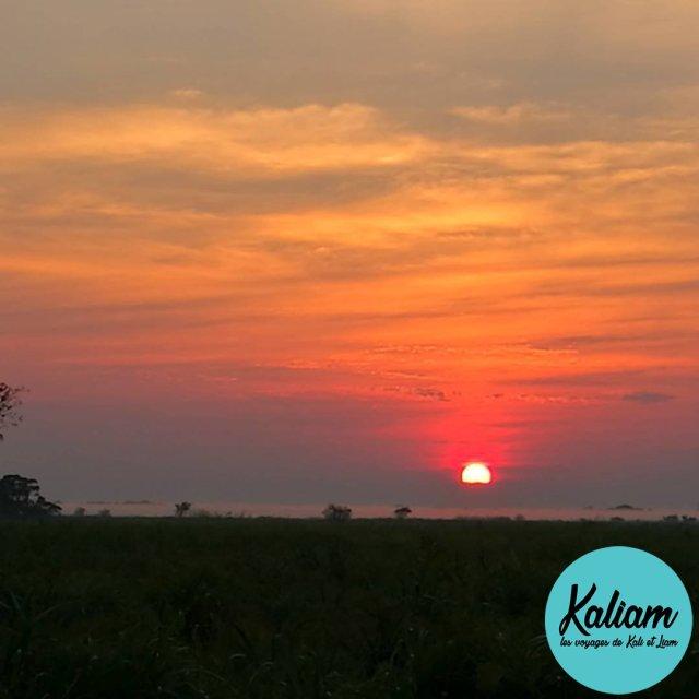 Sunset in the Pampa Lever de soleil sur la Pampa