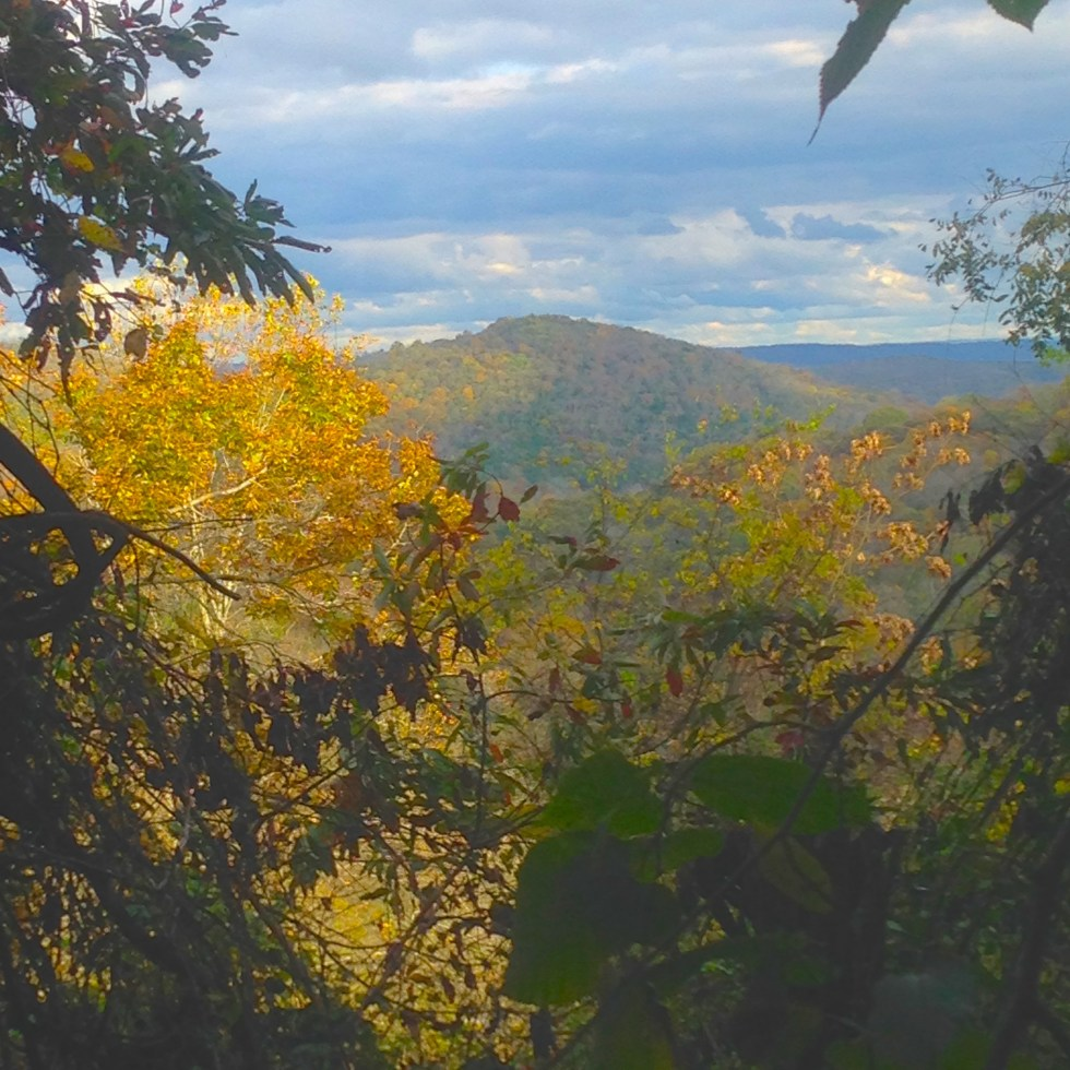Autumn view from the Cinqwani Trail at Kalien