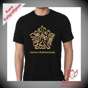 Kaos kaligrafi aksara jawa jamus kalimasada
